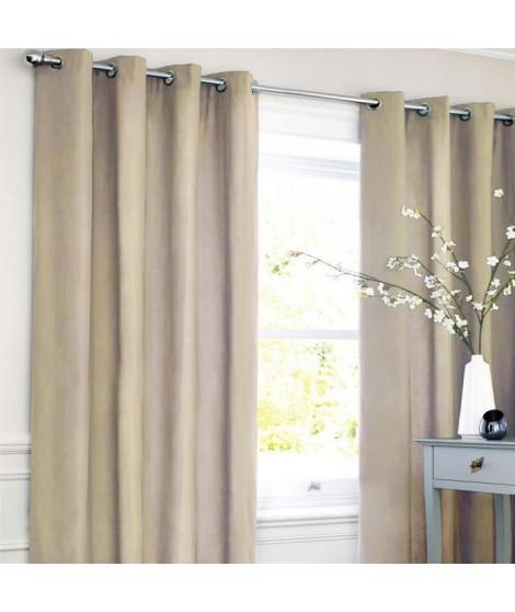 Rideau coton LOOK - Beige clair - 140x250 cm