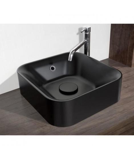 MITOLA Vasque carré Capri 38x38 cm noir mat
