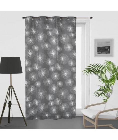 SOLEIL D'OCRE Voilage a oeillets Lionel - 135 x 250 cm - Gris