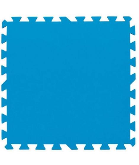 BESTWAY Lot de 9 dalles de sol - 50 x 50 cm - Bleu