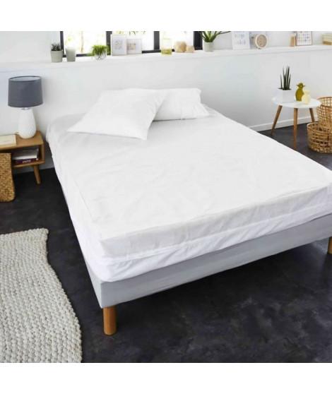 SWEETNIGHT Rénove-matelas AMANDINE 140x190 cm - Blanc