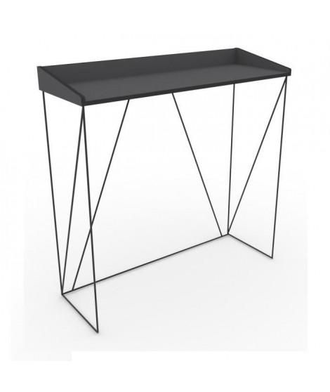 WALTER Console - Contemporain - Métal - Laqué noir - L 100 cm