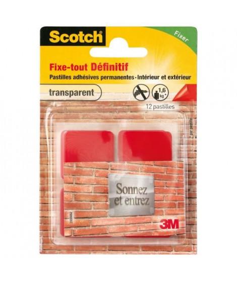 3M SCOTCH 12 pastilles adhésives - Permanent