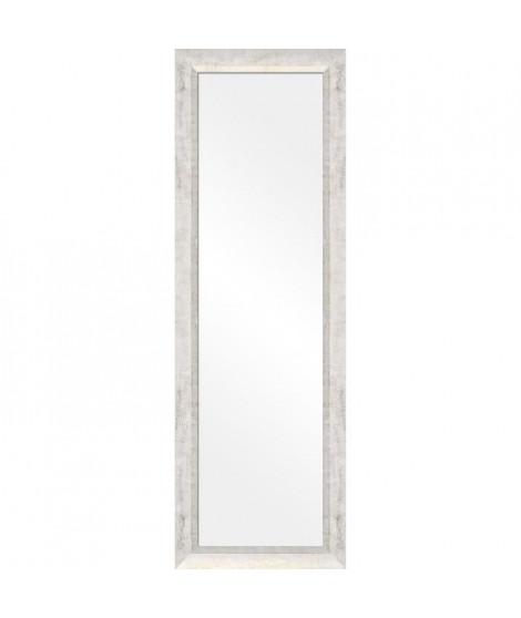 Miroir peint a la main 30x120 cm Bombada - Blanc et Or