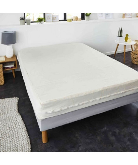 SWEETNIGHT Rénove-matelas ANDREA 90x190 / 200 cm - Blanc