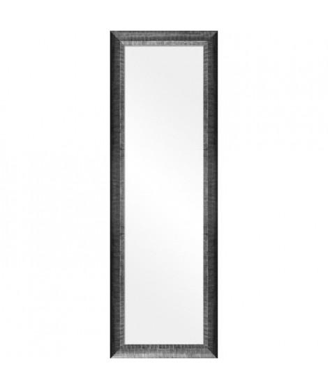 Miroir peint a la main 30x120 cm Bombada - Noir et argent