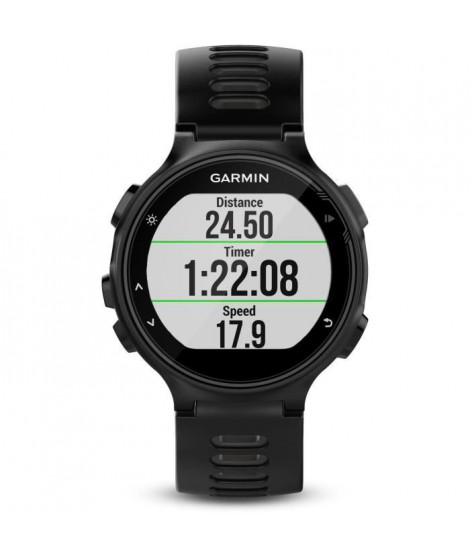 GARMIN Forerunner 735XT Montre Cardio GPS Multisports - Noir et Gris
