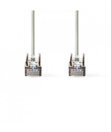 Câble Réseau Cat 5e SF-UTP | RJ45 Male - RJ45 Male | 10 m | Gris     ALPEXE-959