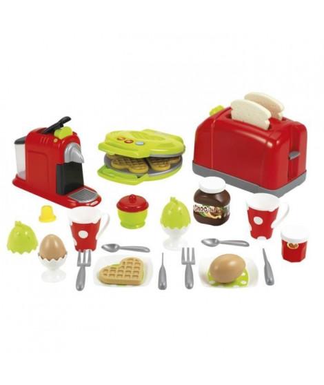 ECOIFFIER CHEF Coffret Toaster Grand Modele + petit déjeuner