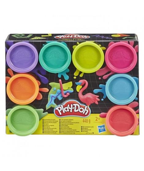 Play-Doh – 8 pots de Pate A Modeler - Couleurs Fluo - 56 g chacun
