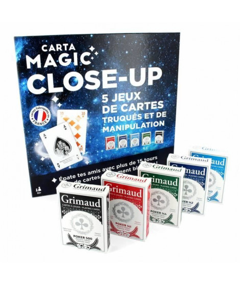 Grimaud - GRIMAUD MAGIE - GRAND COFFRET DE 5 JEUX DE MAGIE CLOSE-UP
