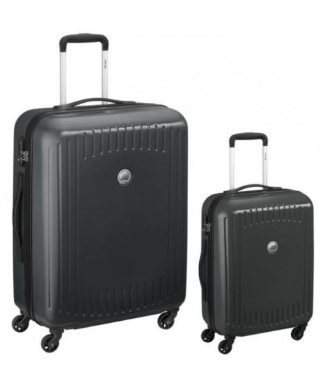 DELSEY Lot de 2 Valises Trolley Namies 55 + 76 cm 4 Roues TSA - ABS/Polycarbonate Gris Anthracite