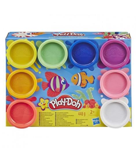 Play-Doh – 8 pots de Pate A Modeler - Couleurs Arc-En-Ciel - 56 g chacun