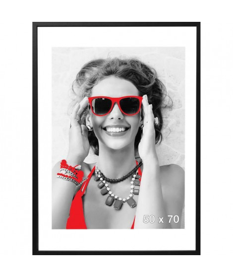 Cadre photo Sevilla - 50x70 - Noir - Moulure 15x15mm