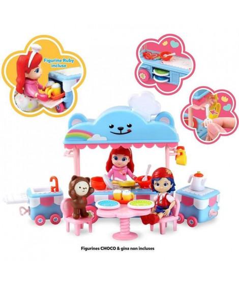 RAINBOW RUBY Set de Jeu Complet Cuisine Mobile et figurine Ruby - 89037 - 3 ans et +