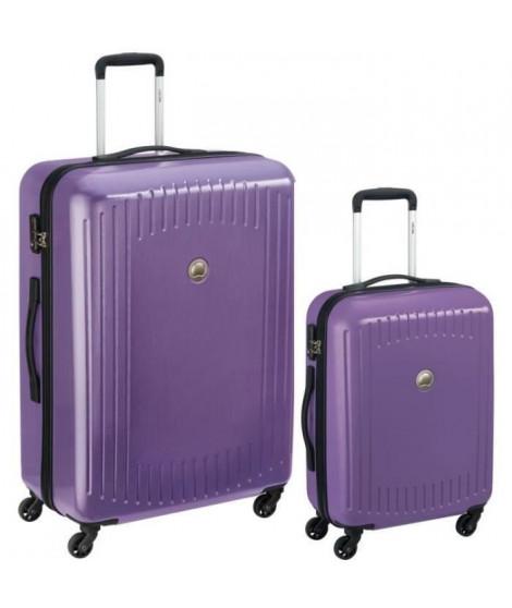 DELSEY Lot de 2 Valises Trolley Namies 55 + 76 4 Roues TSA - ABS/Polycarbonate Violet