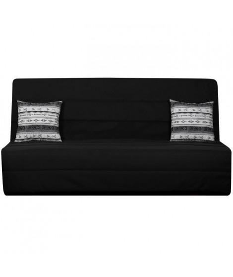 SPLOT Banquette clic-clac 3 places - Tissu motif berbere - Style ethnique - L 190 x P 95 cm