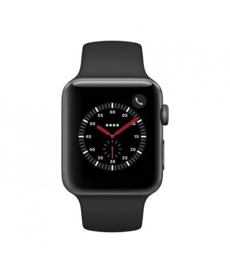 APPLEWatch Series3 GPS+Cellular, 42mm Boîtier en aluminium gris sidéral avec bracelet sport noir