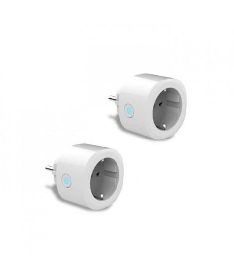 Logicom Home - Double prise connectée FR 220-250V 16A WiFi 2.4 GHz