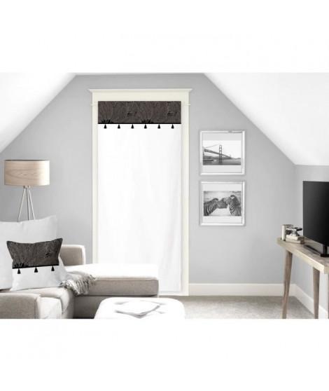 SOLEIL D'OCRE Voilage Oasis - 100% coton - 70 x 200 cm - Noir
