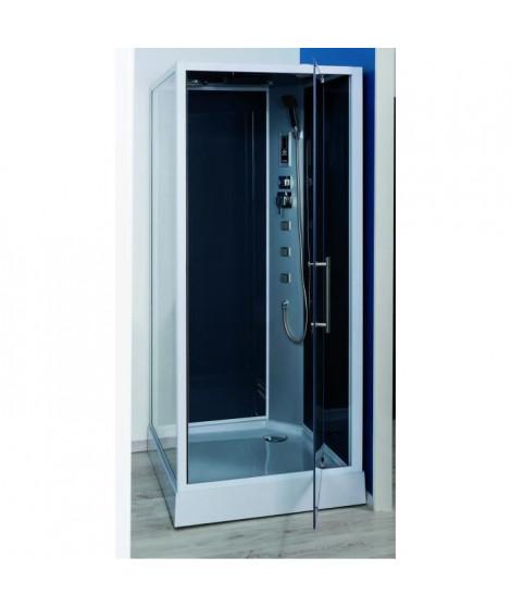 Cabine de douche hydromassante Niky grise 90x90cm
