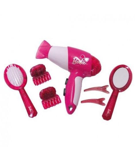 BARBIE - Set de coiffure avec seche-cheveux 7 pieces
