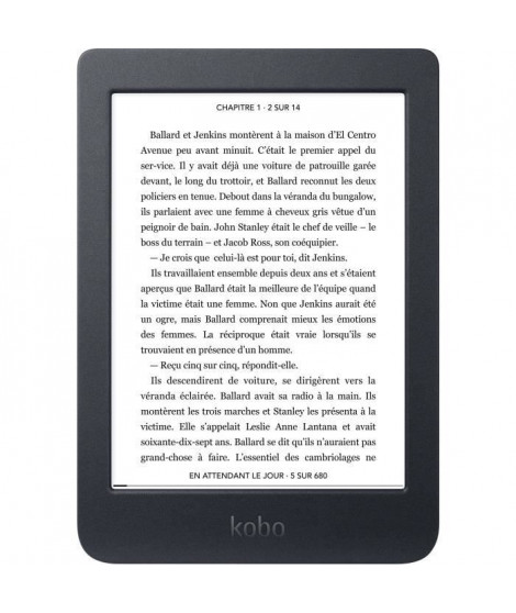 KOBO Nia Liseuse 6 - Stockage 8Go - Ecran tactile anti-reflet - ComfortLight ajustable pour lecture de nuit