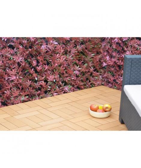 IDEAL GARDEN Treillis extensible Osier - Avec feuilles artificielles type érable - 1 x 2 m