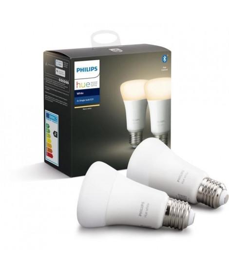 PHILIPS HUE Pack de 2 ampoules White - 9,5 W - E27 - Bluetooth