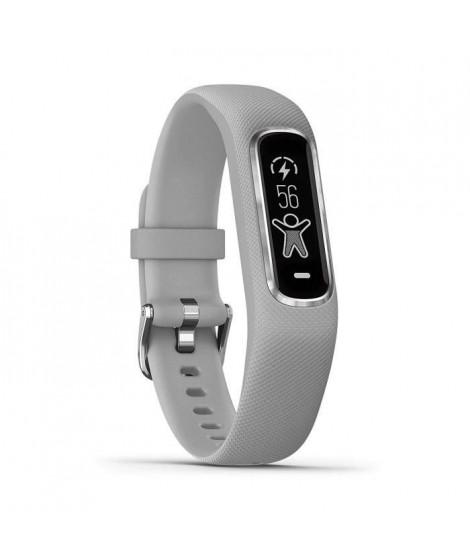 GARMIN Vivosmart 4 Bracelet de fitness avec cardio poignet - Taille S/M - Gris et argent