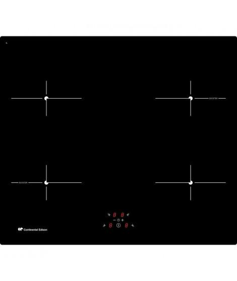 CONTINENTAL EDISON - TI4Z2B - Table de cuisson induction - 4 zones - 6500W - L59xP52cm * Noir