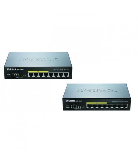 D-Link DGS-1008Px2 Pack de 2 switches 8 ports Gigabit dont 4 ports supportant le Poe
