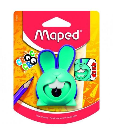 MAPED - Taille-crayons CROC CROC INNOVATION, coloris unique BLEU-VIOLET en blister- E-COMMERCE