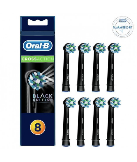 ORAL-B 80318309 Brossettes CrossAction Black x8