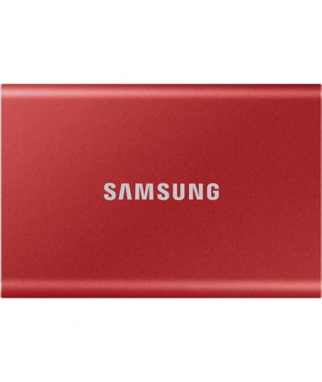 SAMSUNG SSD externe T7 USB type C coloris rouge 1 To