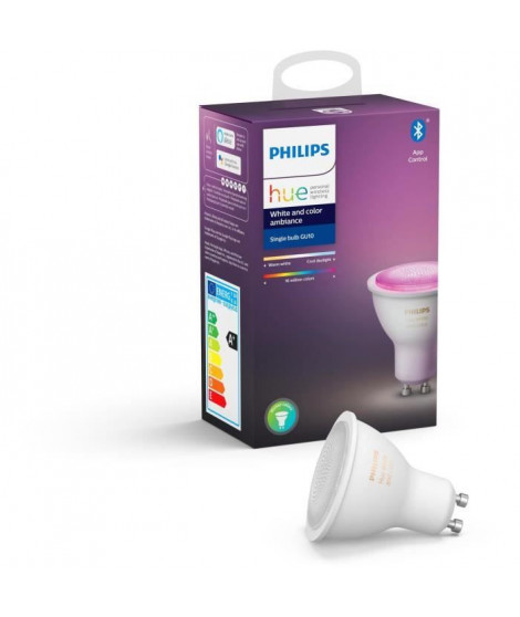 PHILIPS HUE Ampoule White & Color Ambiance - 6,5 W - GU10 - Bluetooth