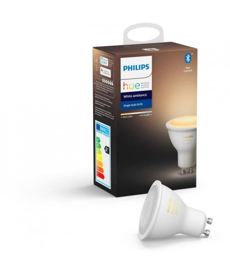 PHILIPS HUE Ampoule White Ambiance - 5,5 W - GU10 - Bluetooth