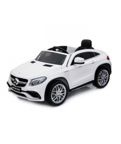 EROAD - Mercedes GLE AMG Blanc  - 12V - Roues gomme - MP3