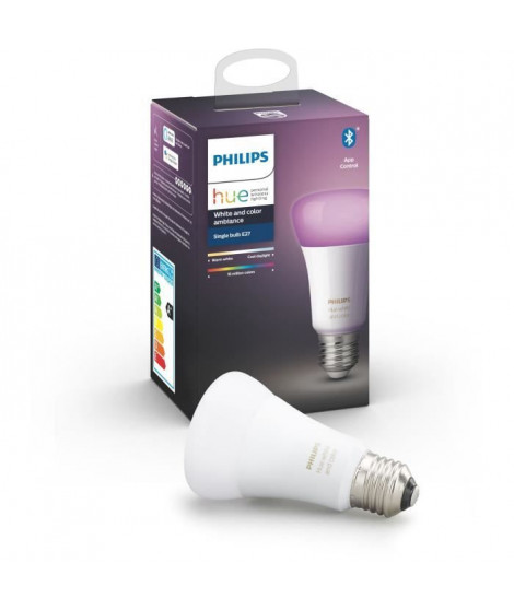 PHILIPS HUE Ampoule White & Color Ambiance - 10 W - E27 - Bluetooth