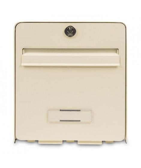 BURG WACHTER Boîte aux lettres Favor en acier galvanisé - 2 portes - Beige clair
