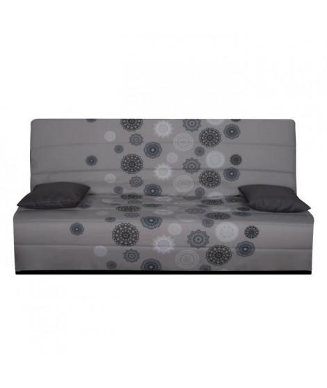 SPLOT Banquette clic-clac 3 places - Tissu motif Mandala - Style contemporain - L 190 x P 95 cm