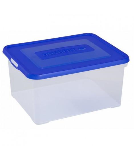 Boîte de rangement bleu 35 L - 243840