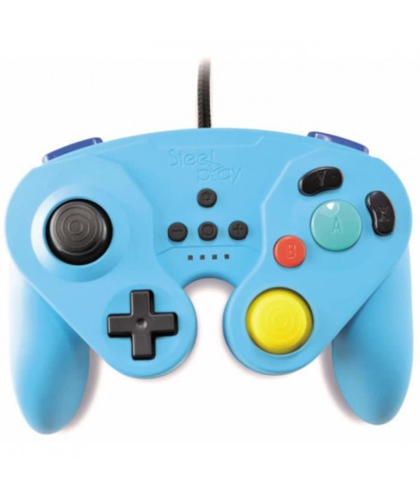 Manette Neo Retro Pad Filaire Steelplay Bleue pour Switch