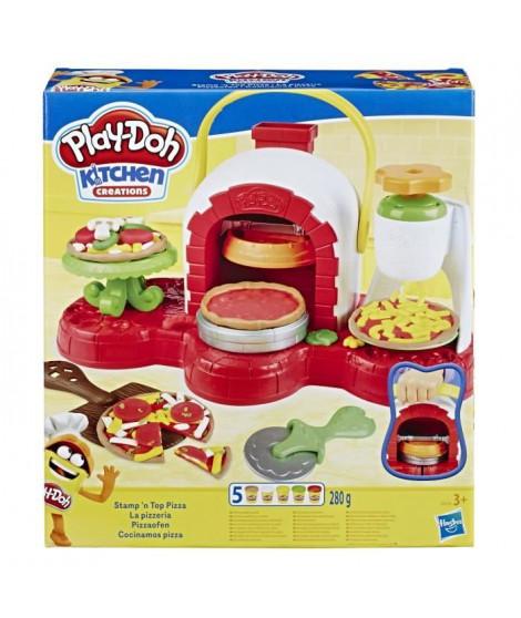 Play-Doh - La pizzeria avec 5couleurs de pâte Play-Doh atoxique