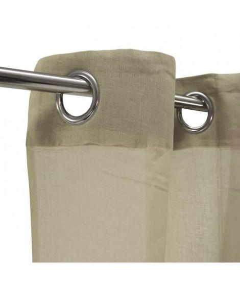 Voilage 100% coton - Taupe - 105x250 cm