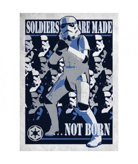 Poster métallique Star Wars Galactic Propaganda : Soldier are made...Not Born