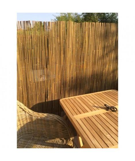 IDEAL GARDEN Canisse Bambou Sty'l Resist - Fil de fer galvanisé - 1,5 x 3 m