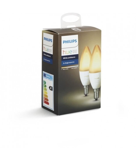 PHILIPS HUE Pack de 2 ampoules White Ambiance flamme E14