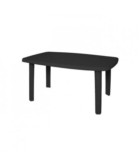 Table de jardin rectangulaire Sorrento - 6 places - 140 x 80 x 72 cm - Gris anthracite
