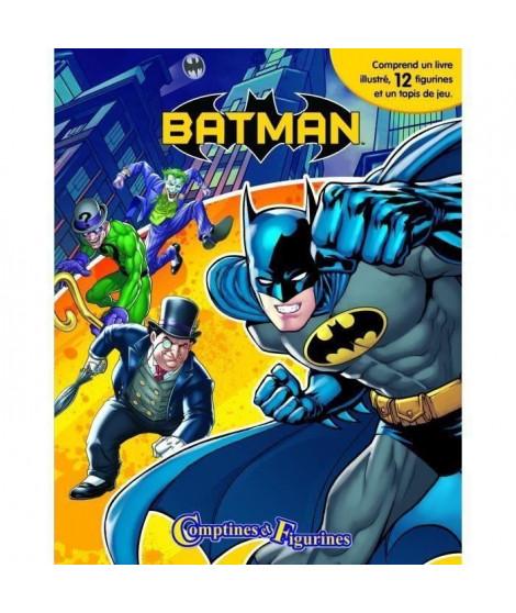 DC BATMAN 12 figurines et un tapis de jeu - Livre cartonné de 10 pages - Editions Phidal